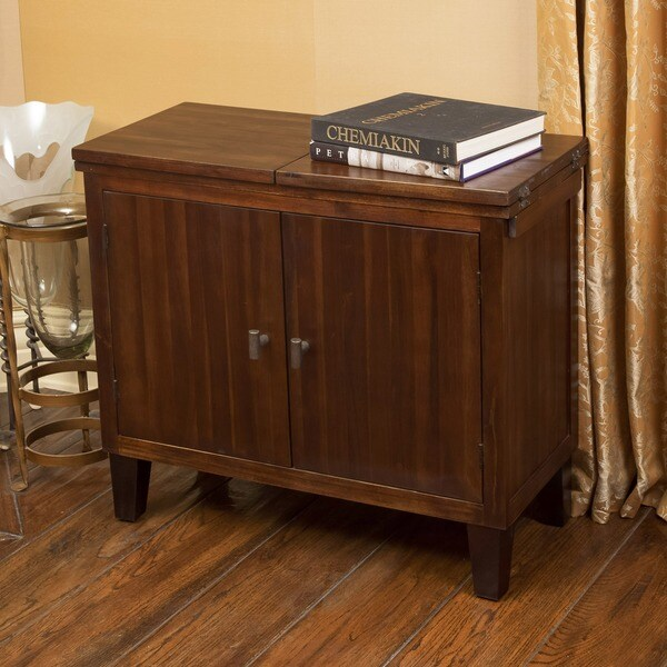 Acacia Wood Door : Luna acacia wood door chest by christopher knight home