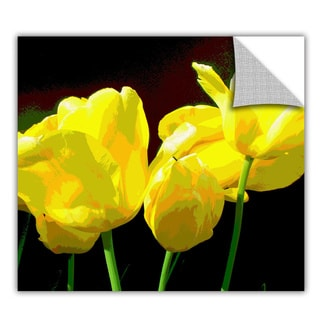 ArtApeelz Herb Dickinson 'Yellow Tulips 2' Removable wall art graphic