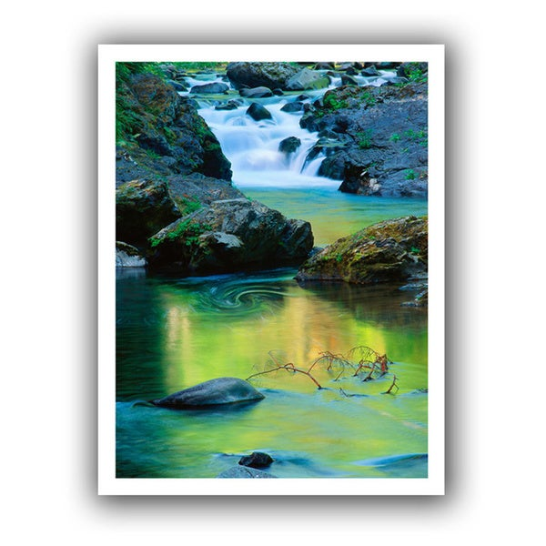 Dean Uhlinger 'Sol Duc River reflections' Unwrapped Canvas - Multi