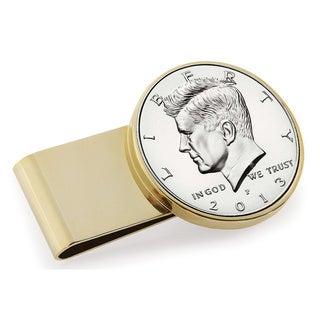 American Coin Treasures Goldtone Stainless Steel Proof JFK Half Dollar Money Clip