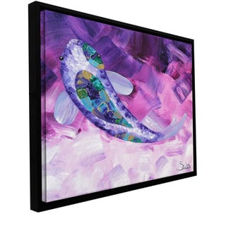 Shiela Gosselin 'Purple Koi' Floater framed Gallery-wrapped Canvas