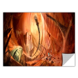 ArtApeelz Luis Peres 'Monuments of Mars 2' Removable wall art graphic - Multi