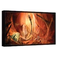 Luis Peres 'Monuments of Mars 2' Gallery-wrapped Canvas