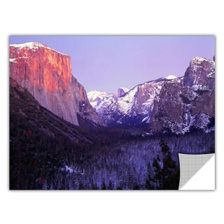 ArtApeelz Dean Uhlinger 'Yosemite Valley Winter' Removable wall art graphic - Multi