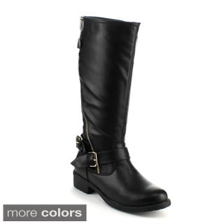 Refresh Women's 'Dason-01' Military Knee-high Riding Boots