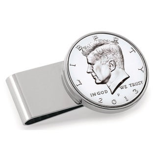 American Coin Treasures Stainless Steel Proof JFK Half Dollar Money Clip