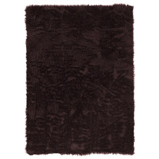 Linon Faux Sheepskin Brown Area Rug (3' x 5')