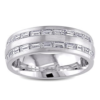 Miadora Signature Collection 14k White Gold 1ct TDW Diamond Wedding Band