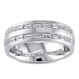 Miadora Signature Collection 14k White Gold 1ct TDW Diamond Wedding Band (G-H. SI1-SI2)