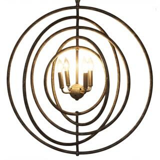 Metal Circular 4-light Pendant