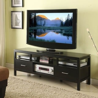Linon Taylor Modern Plasma TV Stand in Jet Black