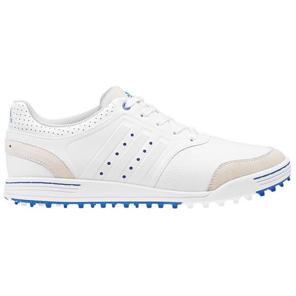 Mens Adidas Adicross III White/ Tan Spikeless Golf Shoes