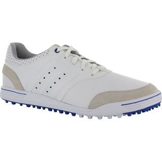 Mens Adidas Adicross III White/ Tan Spikeless Golf Shoes