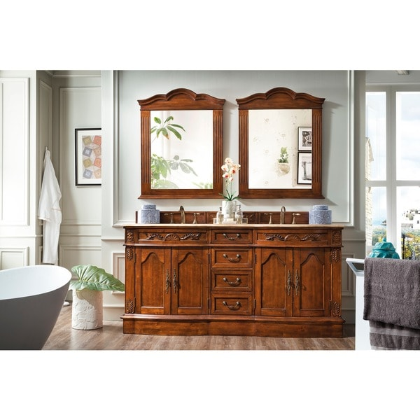 Shop James Martin Furniture Classico Travertine Double Vanity Set Free Shipping Today