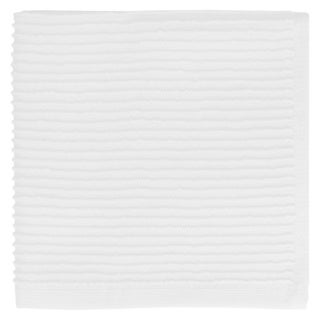 MUkitchen White Ridged Texture Cotton Dishcloth