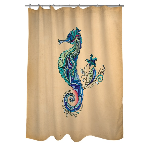 Shop Seahorse Shower Curtain
