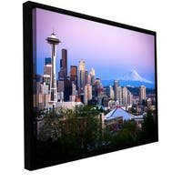 Cody York 'Seattle and Mt. Rainier 2' Floater framed Gallery-wrapped Canvas - Multi