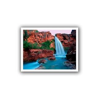 Dean Uhlinger 'Havasu Falls Dusk' Unwrapped Canvas