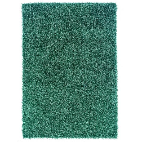 Linon Confetti Turquoise Area Rug (8' x 10')