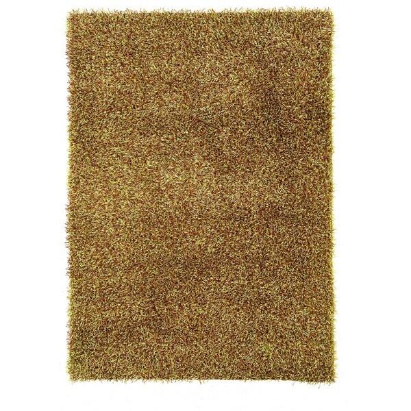 Linon Confetti Grass Green/ Brown Area Rug - 8' x 10'