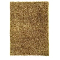 Linon Confetti Grass Green/ Brown Area Rug (8' x 10')