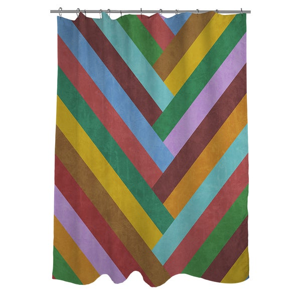 Chevron Rainbow Shower Curtain