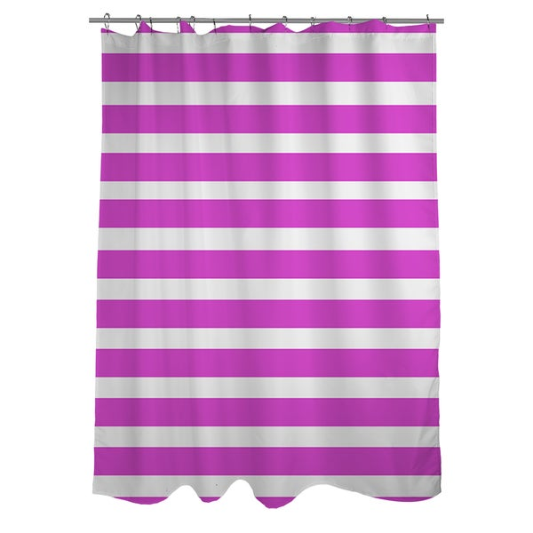 Bright Stripes Pink Shower Curtain