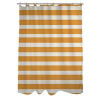 Bright Stripes Orange Shower Curtain