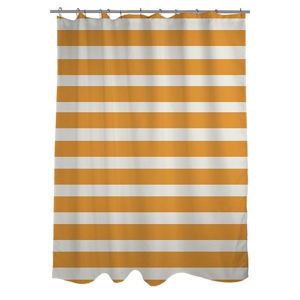 Bright Stripes Orange Shower Curtain