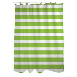 Bright Stripes Kiwi Shower Curtain
