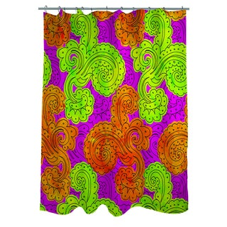 Funky Florals Paisley Fuchsia Shower Curtain
