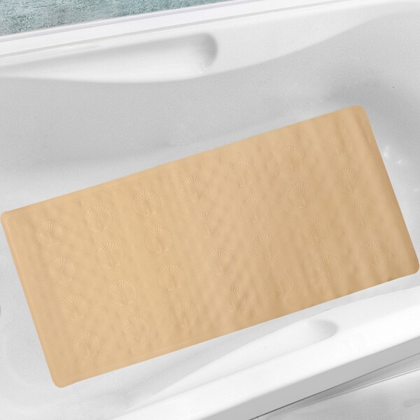 All Natural Rubber 18x36 Inch Seashell Bath Mat Free