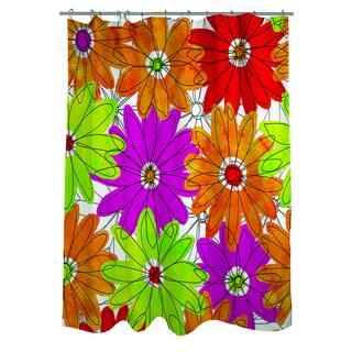 Funky Florals Daisy Fuchsia Shower Curtain