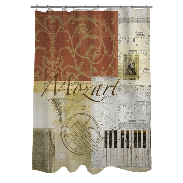 Classic Composers Mozart Shower Curtain