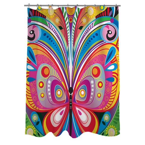 Pattern Butterfly Shower Curtain
