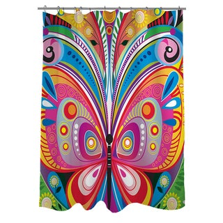 Thumbprintz Pattern Butterfly Shower Curtain