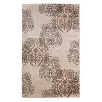 Linon Milan Collection Ivory/ Brown Area Rug (1'10 x 2'10) - 1'10 x 2'10