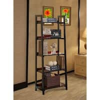 Linon Newton Black Cherry Modern 5-shelf Bookcase