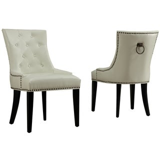 Uptown Cream Leather Dining Chair