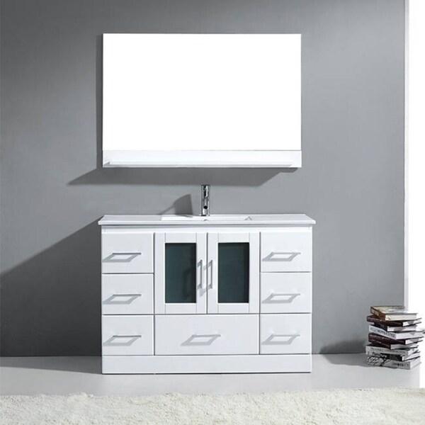 Virtu Usa Zola 48 Inch White Single Sink Vanity Free Shipping Today Overstock 16553308