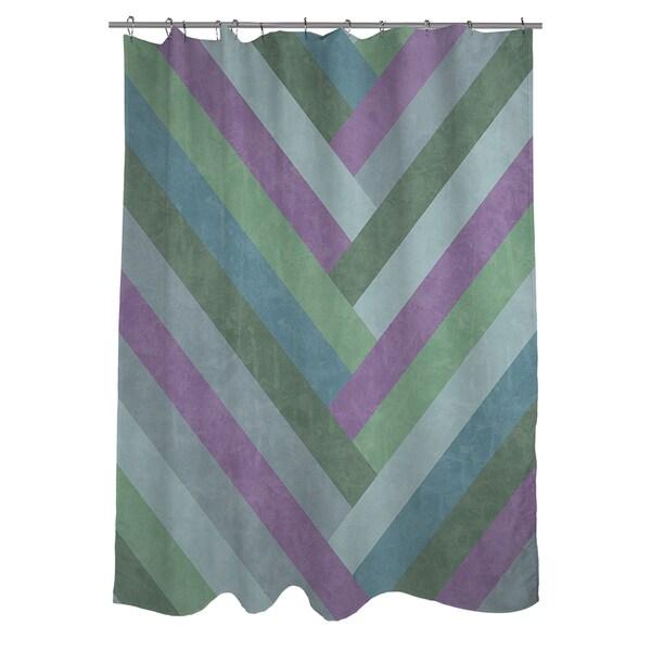 Chevron Rainbow Pastels Shower Curtain