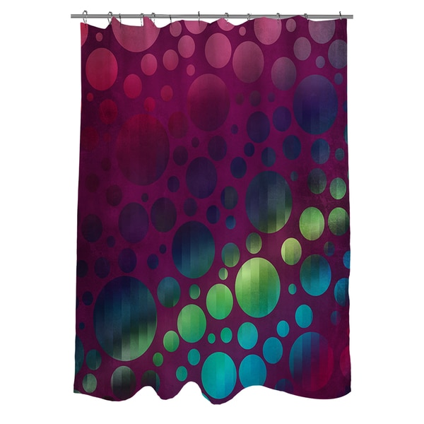 Circles I Magenta Shower Curtain