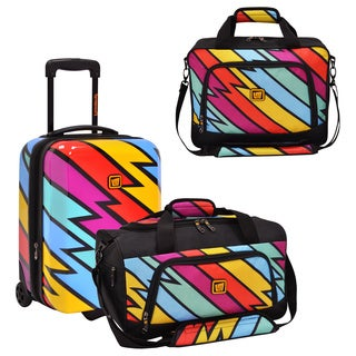 Loudmouth by Traveler's Choice Captain Thunderbolt 3-piece Carry-on Luggage Set