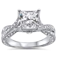 Noori 14k White Gold 1 4/5ct TDW Clarity-enhanced Diamond Engagement Ring
