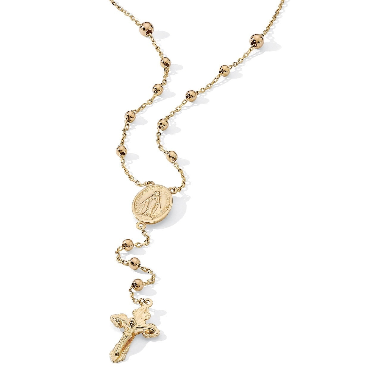 Palm Beach Rosary Style Necklace in 18k Gold Over Sterlin...