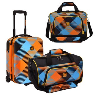 Loudmouth by Traveler's Choice Captain Microwave 3-piece Carry-On Luggage Set