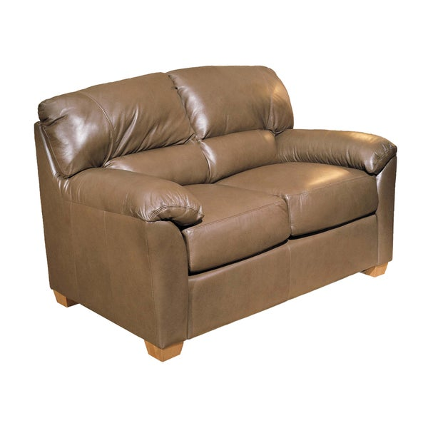 Shop Made To Order 100 Percent Top Grain Leather Loveseat