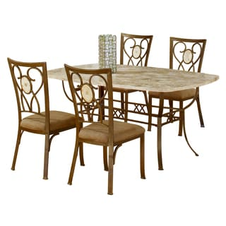 Brookside 5-piece Rectangle Dining Set with Oval Back Chairs