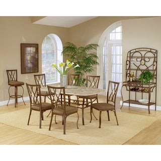 Brookside 7-piece Rectangle Dining Set with Diamond Back Chairs