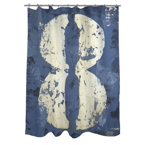 Vintage Number 8 Shower Curtain